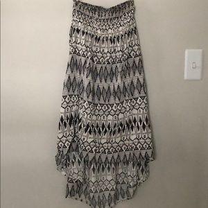 Hi-lo tube dress